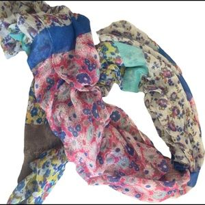5/$20 Scarf Floral Thin Material Woman's Accessory